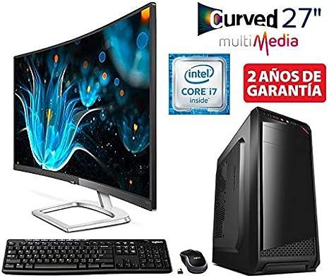 PC Ordenador SOBREMESA Gaming Intel Core I7 up to 3,8Ghz + Monitor ...