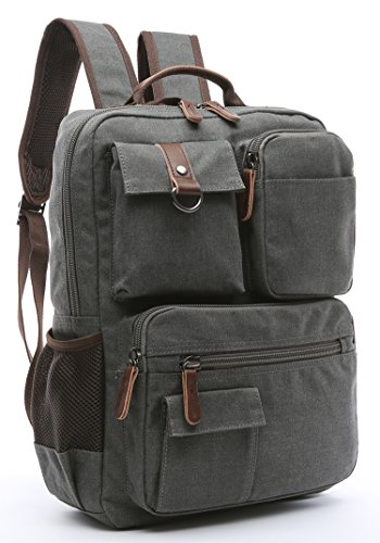 Canvas Backpack, Aidonger Vintage Canvas School Backpack Hiking