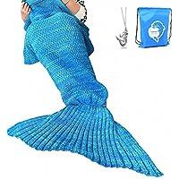 LAGHCAT Mermaid Tail Blanket Crochet Mermaid Blanket for...