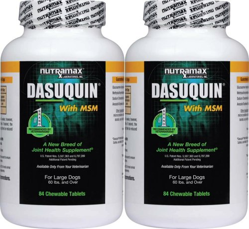Nutramax Dasuquin Chewable Tablets w/ MSM Large Dogs 168ct (2 x 84ct)