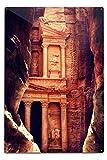 Petra, Jordan - The Treasury (Al-Khazneh) - Archaeological Site (12x18 Aluminum Wall Sign, Wall Decor Ready to Hang)