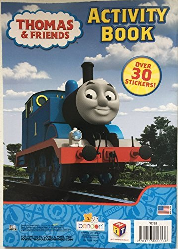Thomas & Friends On Track On Time Coloring and Activity Book - Includes Over 30 Stickers