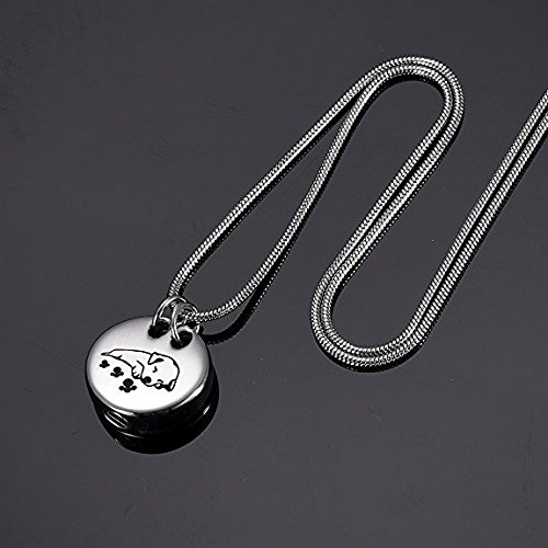 Pet Memorial Jewelry Cremation Urn Necklace -Sleeping Dog Keepsake Pendant Jewelry For Ashes by EternityMemory (Image #4)