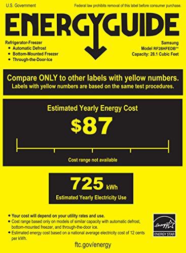 Samsung RF28HFEDBWW Energy Star 28 Cu. Ft. French Door Refri