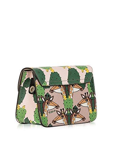 Furla Borsa A Spalla Donna 888152 Pelle Verde