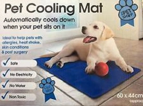 Dog Cat Pet cooler Cooling Cool Gel Mat Bed Pad 60 x 44cm Blue By St@llion...