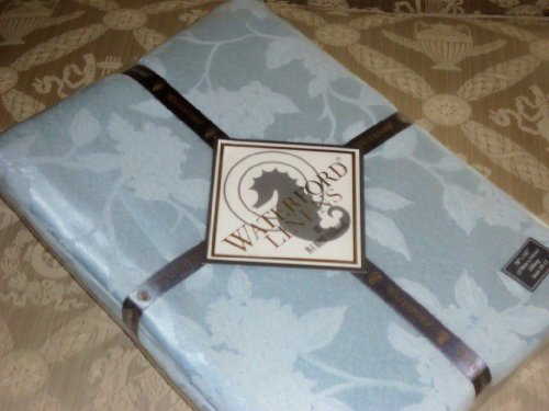 """Waterford Linens Hydrangea Blue 70"""" by 84"""" Rectangle Tablecloth"""