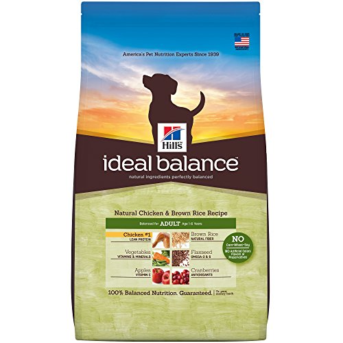- Hill'S Ideal Balance Adult Natural Dog Food, Chicken & Brown Rice Recipe Dry Dog Food, 15 Lb Bag