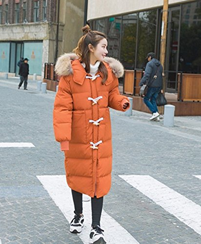 Section Hooded In Thickening Horns Coat Cotton Long Cotton The Clothes Orange Sweater Down Deduction Xuanku Slim Jacket CnwpXqUX