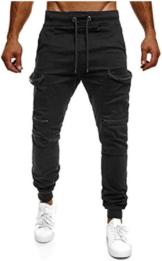 VITryst 男性ロングパンツアスレチックフィットフィットネスのためのリラックスしたポケットパンツ