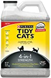 Tidy Cats Cat Litter, Clumping, 4-in-1 Strength, 20-Pound Jug, Pack of 2