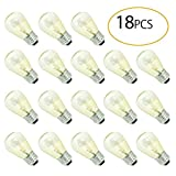 BRTLX Commercial Grade S14 11W Incandescent Bulbs Warm White 2700K E26 Base Indoor and Outdoor String Lights Replacement Bulb Pack of 18