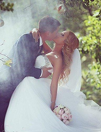CoCogirls Kleid Hochzeit Kristall Bridal Hochzeitskleid Prinzessin Strass Ballkleid Brautkleider Kleider Süß Elfenbein q80qrC