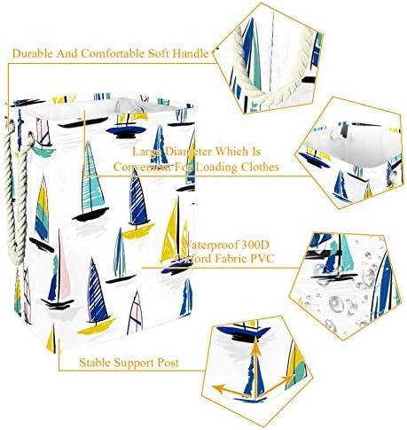 HANDIYA Panier à linge coloré en coton et lin de style britannique