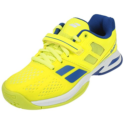 Babolat Junior Propulse All Court Tennis Shoes - Yellow/Blue Yellow/Blue