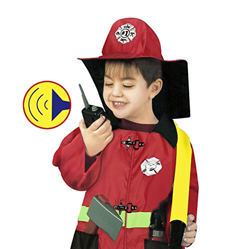 OUTAD Little Firefighter Outfit Fire Chief Role Play Costume Dress-Up Set