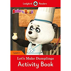 Masha-and-the-Bear-Lets-Make-Dumplings-Activity-Book-Ladybird-Readers-Level-2
