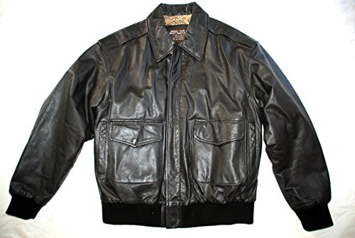 US Army Air Force Flyers Men's Leather Bomber Type A-2 Jacket - Size Medium Regular