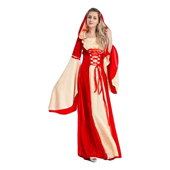 Deluxe Game of Thrones Medieval Red Gown Maid Marion Gothic Fancy ...