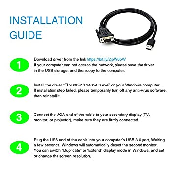 Usb 3.0 To Vga Adapter Cable, Multi Monitor Display Video Converter For Windows 108.187xp, Pc, Laptop, Surface Up To 1920 X 1080-1.5m (4.9 Ft) Length 12