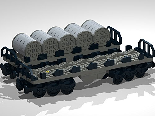 Wagon Coil (12-Wheel Flat Bed Wagons with Metal Coils: Lego MOC building instructions)