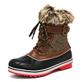 DREAM PAIRS Women's River_3 Brown Mid Calf Winter Snow Boots Size 11 M US