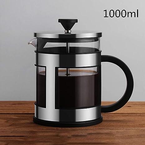 LMFLY Coffee Jarra de Café,Acero Inoxidable Francés Press ...