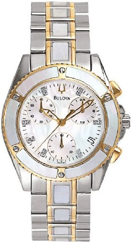 Bulova Diamond Chronograph Ladies Watch 98P000