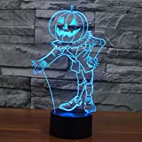 3D Optical Illusion Pumpkin Guardian Lamp, Night Lights for Hallowmas and Decor, 7 Colors Changing Toys and Gifts for Kids/Birthday by YKL World