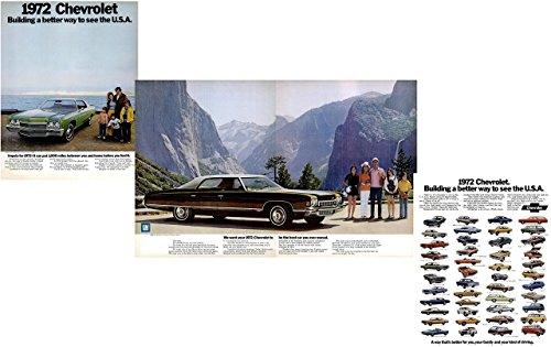 1972 CHEVROLET IMPALA CUSTOM COUPE & CAPRICE SEDAN 4-Door HARDTOP plus FULL-LINE