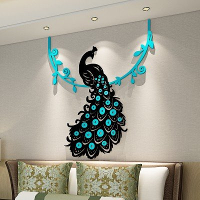 dining room wall stickers india peacock crystal acrylic wall sticker 3d threedimensional living room bedroom home decoration medium buy