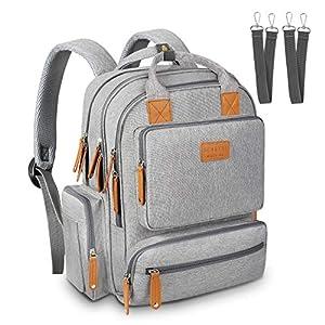 Sensyne Diaper Bag Backpack, Multi-Function Waterproof Maternity Baby Nursing Nappy Back Pack for Boy/Girl on Travel…