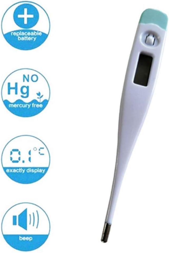 AGKupel Term/ómetro Electr/ónico Term/ómetro Digital Port/átil LCD para Adultos Ni/ños Y Beb/és Lectura de Temperatura Oral Axilar O Rectal