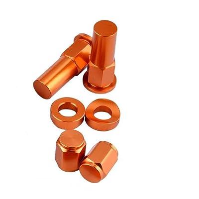 P1 Tools Rim Lock Nut/Spacer Kit Orange: Automotive