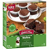 Katz Gluten Free Chocolate Zucchini Muffins | Dairy, Nut, Soy and Gluten Free | Kosher (1 Pack of 4 Muffins, 11 Ounce)