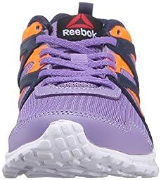 Reebok Run Supreme 2.0 Track Shoe (Little Kid/Big Kid), Smokey Violet/Collegiate, 1 M US Little Kid