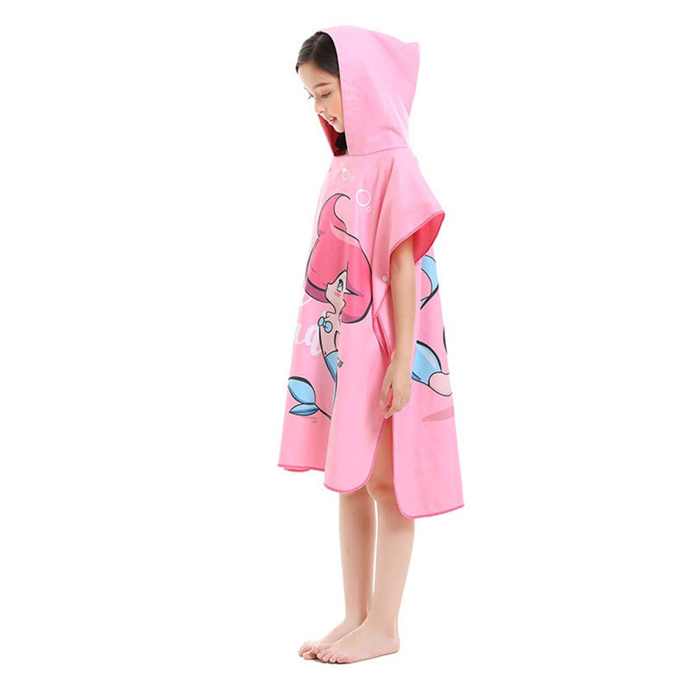 Toalla ligera con capucha para niños Kids Girls Microfiber Beach ...