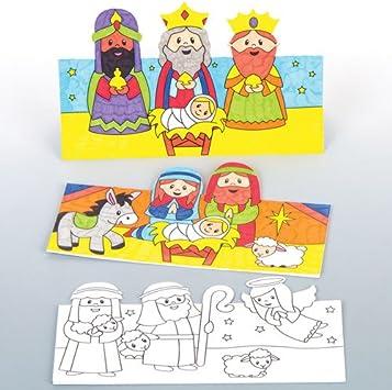 Baker Ross Tarjetas 3D con imágenes del belén, Decoraciones o Tarjetas navideñas (Pack de 6).: Amazon.es: Juguetes y juegos