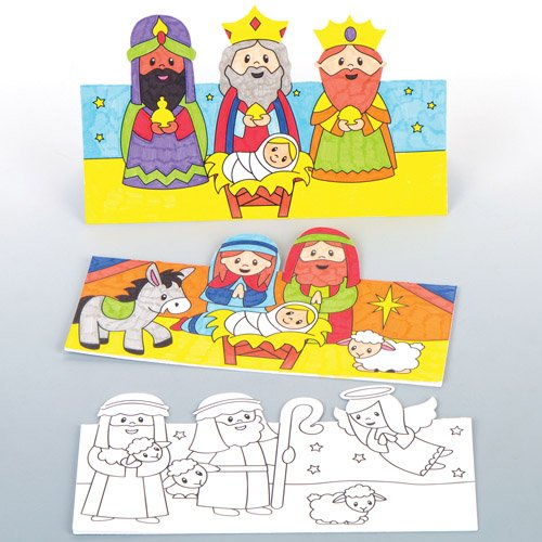 Pop-up-Karten Weihnachtsgeschichte – Kreatives weihnachtliches Bastelmaterial zum Basteln und Dekorieren (6 Stück) Baker Ross