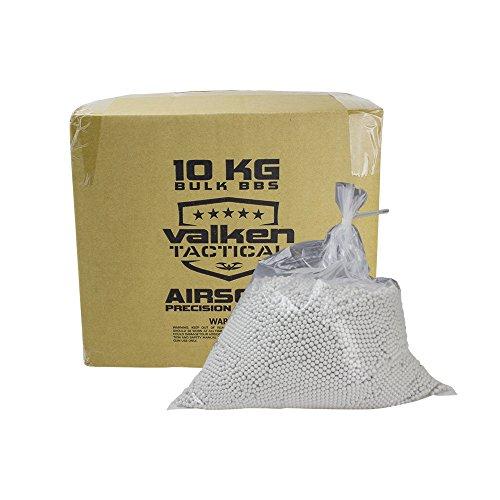 Valken Tactical 0.20G BIO Precision Airsoft BB-10kg Bulk Box-White by Valken Tactical