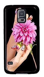 Samsung Galaxy S5 Nail And Flower PC Custom Samsung Galaxy S5 Case Cover Black
