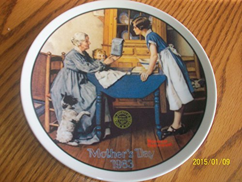 "Knowles ""Add Two Cups and a Measure of Love"" Norman Rockwell Collector Plate"