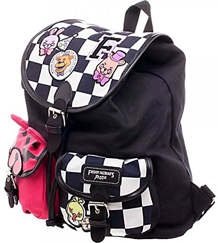 Five Nights at Freddy's Checkered Knapsack with Patches by Five Nights At Freddy