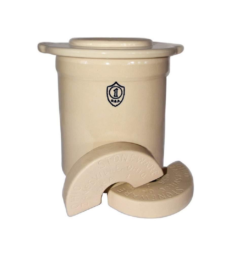 Stoneware Crock 1gal Set by OHIO STONEWARE LLC (Image #1)