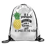 Be A Pineapple Unisex Drawstring Backpack Travel Sports Bag Drawstring Beam Port Backpack.