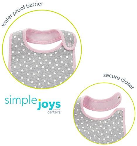 6351b9281 Burp Cloths Simple Joys by Carters Baby Girls 8-Pack Burp Cloth and Bib Set