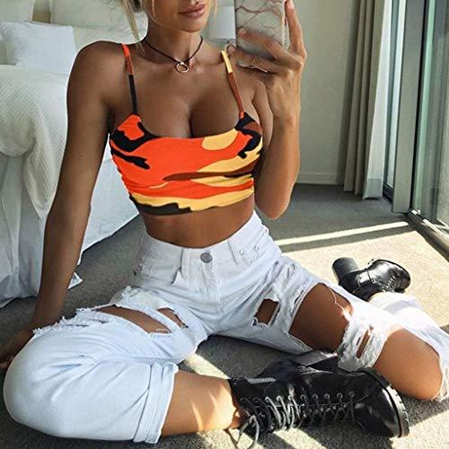 Fainosmny Womens Vest Slim Tank Tops Sexy Sling Crop Tops Camouflage Camisole Sleeveless Bra Vest Basic Blouse T-Shirt by Fainosmny (Image #2)
