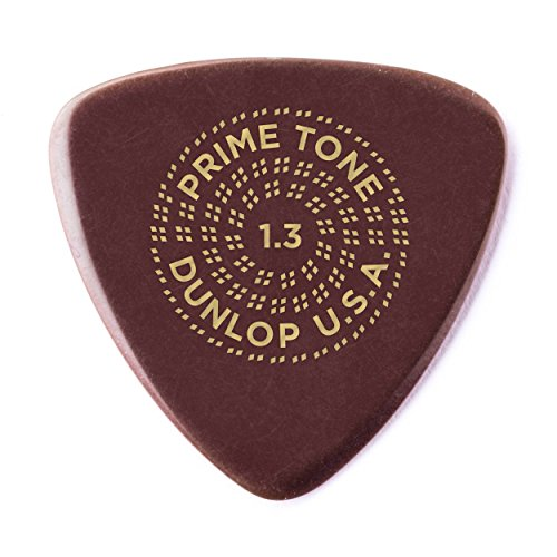- Dunlop Primetone Small Triangle 1.3mm Sculpted Plectra (Smooth) - 3 Pack