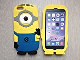 Ipod Touch Skin Despicable Me 2 Minion Silicone Case Cover For Ipod Touch 4 or 5 (Ipod 4 Single Eye Blue)