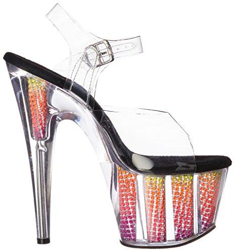 Femme Pleaser Transparent clr nmc Srs Clr Multi blk Sandales C Adore neon Plateforme 708srs SFAwqSag